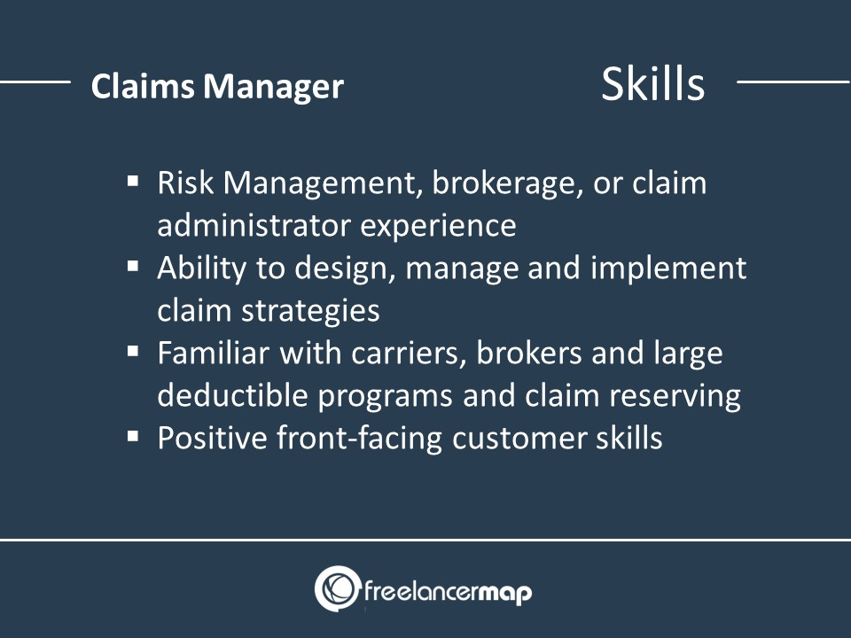 Claims Manager - Skills
