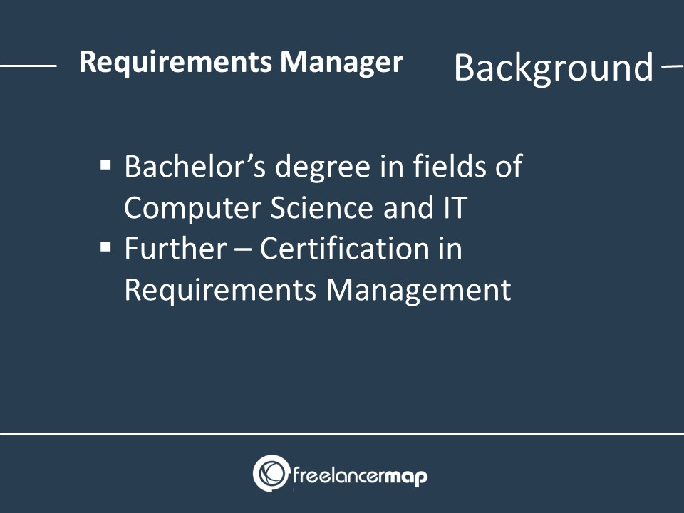 Background and education for experts in requirements management