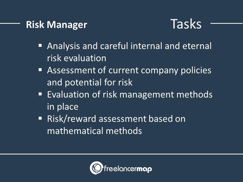 Risk manager responsibilities list