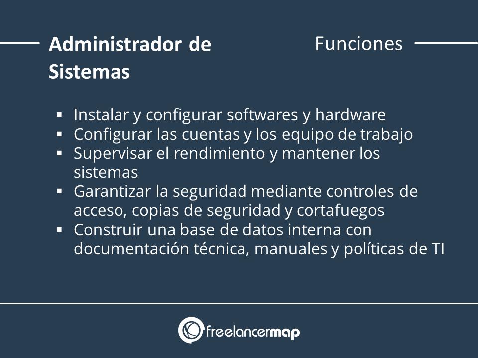Lista de funciones de un adminstrador de sistemas