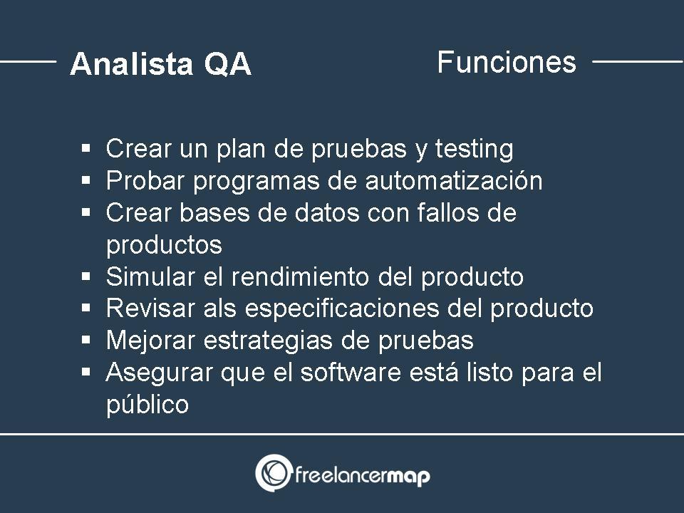 Analista QA funciones y responsabilidades