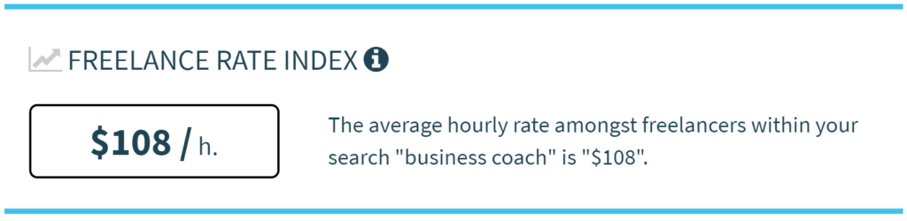 Business Coach - Average Freelance Rate