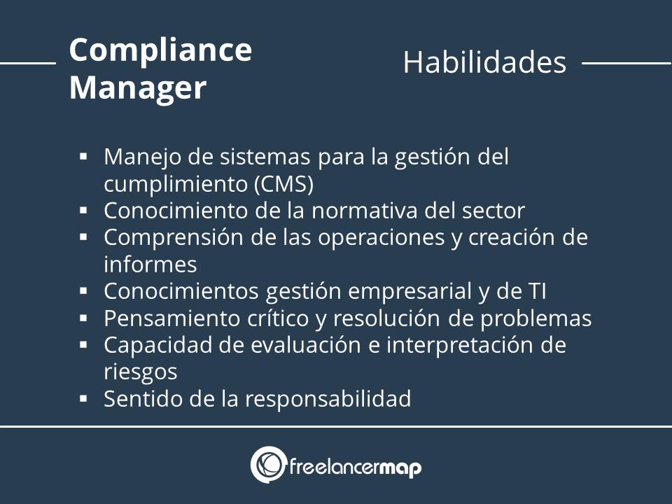 Compliance manager habilidades y conocimientos