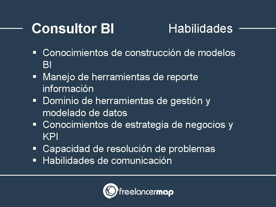 Habilidades consultor business intelligence (BI)
