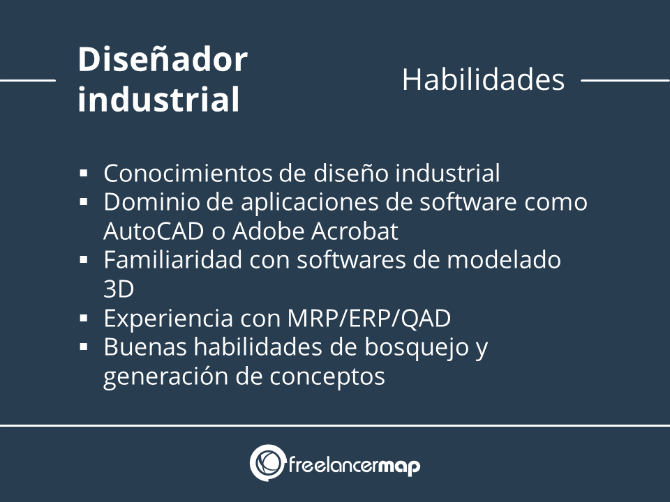 Habilidades y conocimientos necesarias diseño industrial