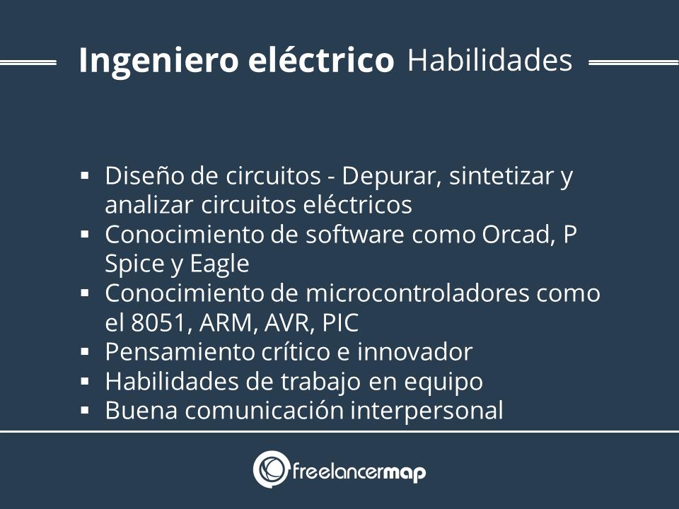 Descripción de habilidades de un ingeniero eléctrico