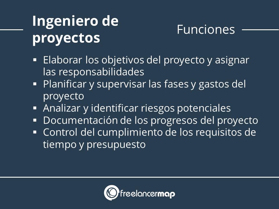 Ingeniero de proyectos funciones