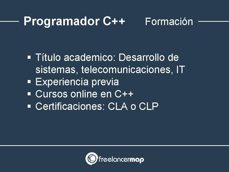Programador C++ - Formación academica y experiencia