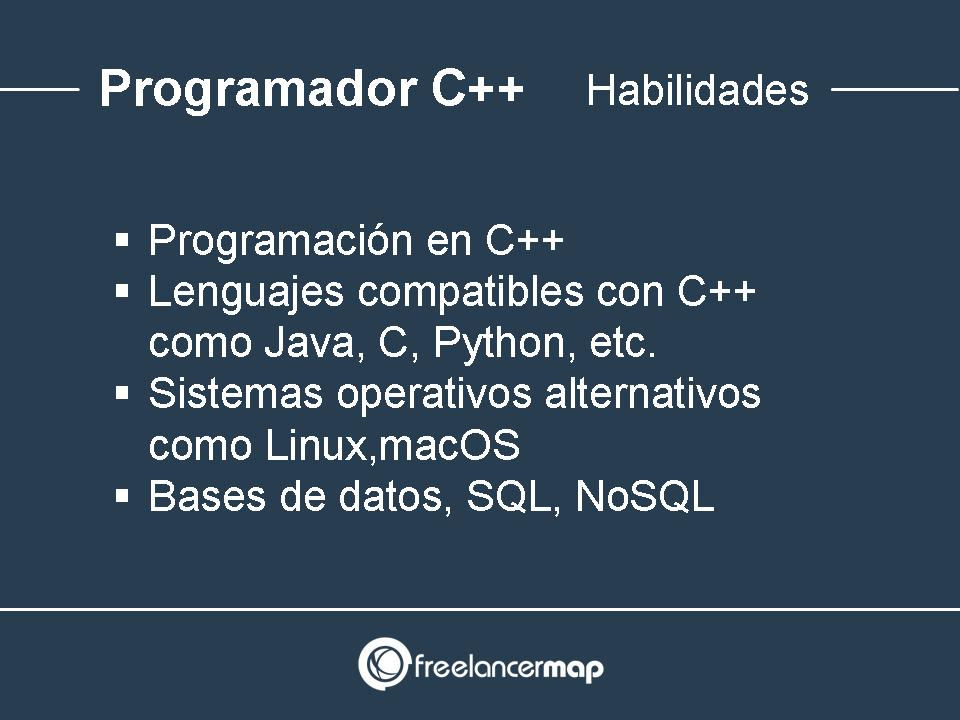Programador C++ habilidades requeridas
