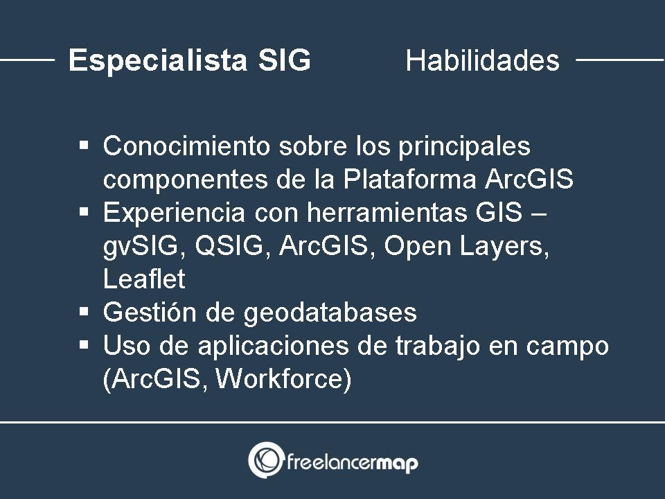 Habilidades y conocimientos para especialistas SIG