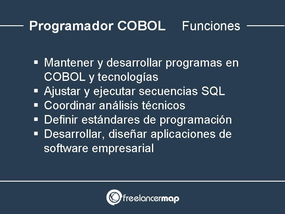 Funciones y tareas en el puesto de analista COBOL