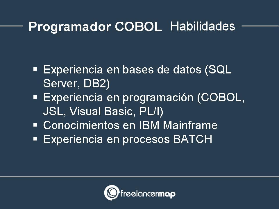 Conocimientos necesarios para programadores COBOL