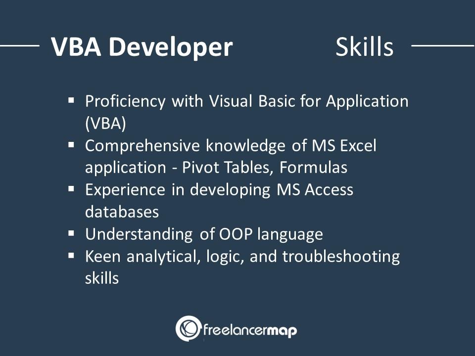 VBA Developer - Skills