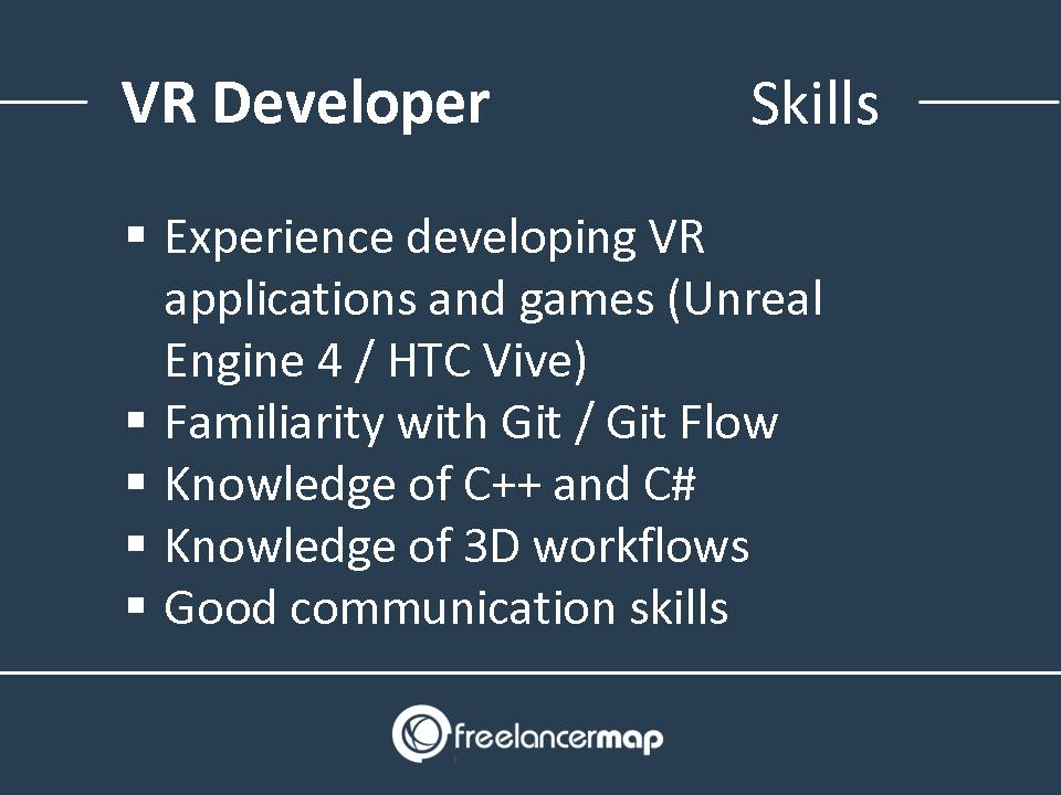 VR developer skills and knowledge requirements