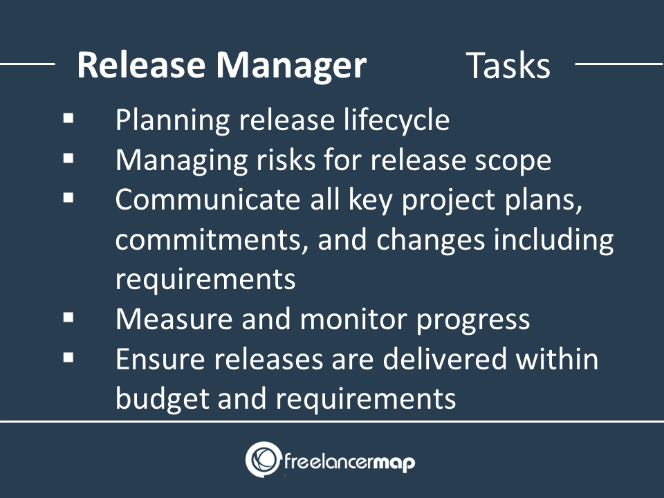 List of responsibilities of a Release Manager