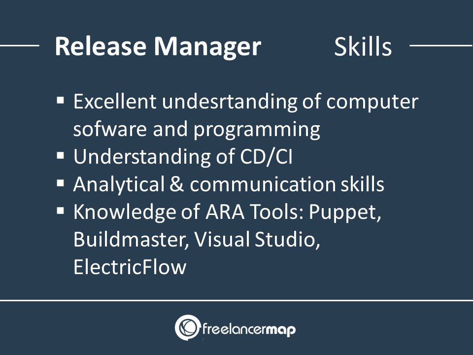 Release Manager skills required for the role