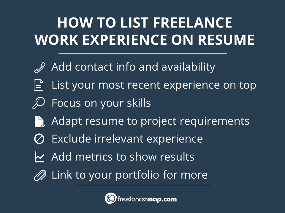 Tips on how to add freelance work to resume