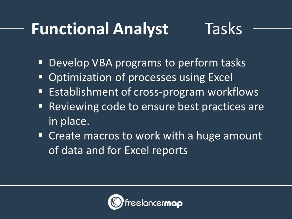 Functional Analyst - Responsibilities