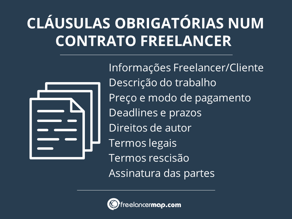 Lista de cláusulas necessárias contrato para prestação de serviços de um freelancer