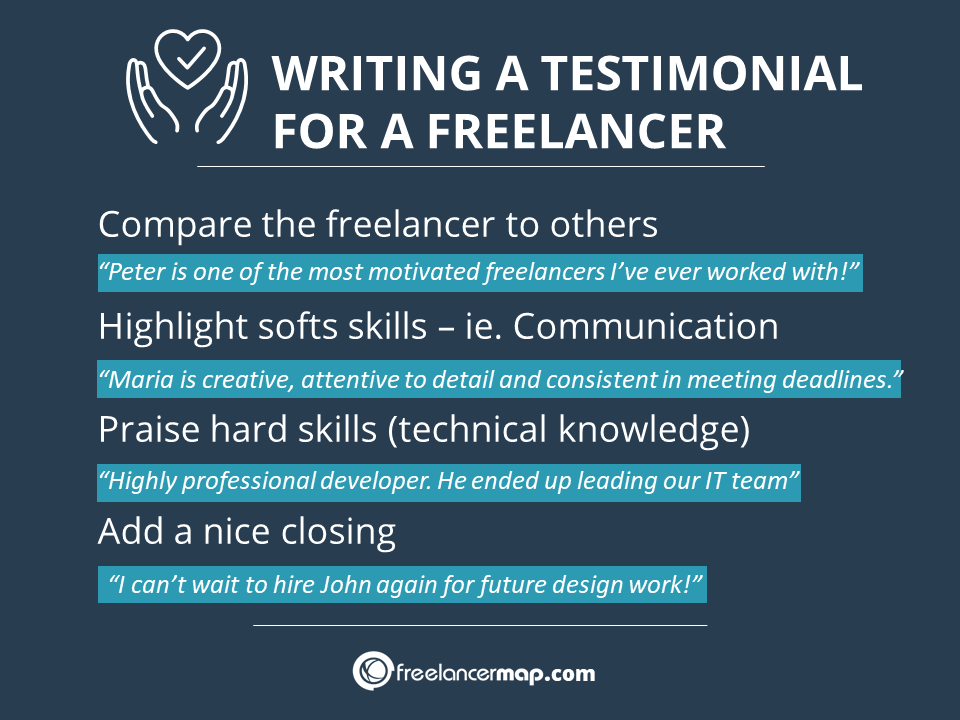 Ideas and examples for writing a testimonial for a freelancer