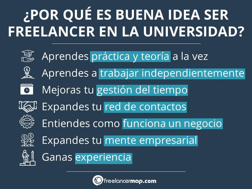 Ventajas y oportunidades de ser freelancer mientras estás en la universidad