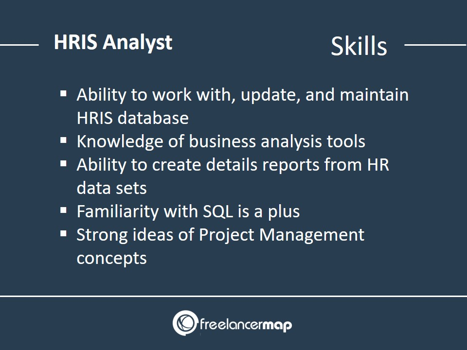 Skills required to become a HRIS analyst