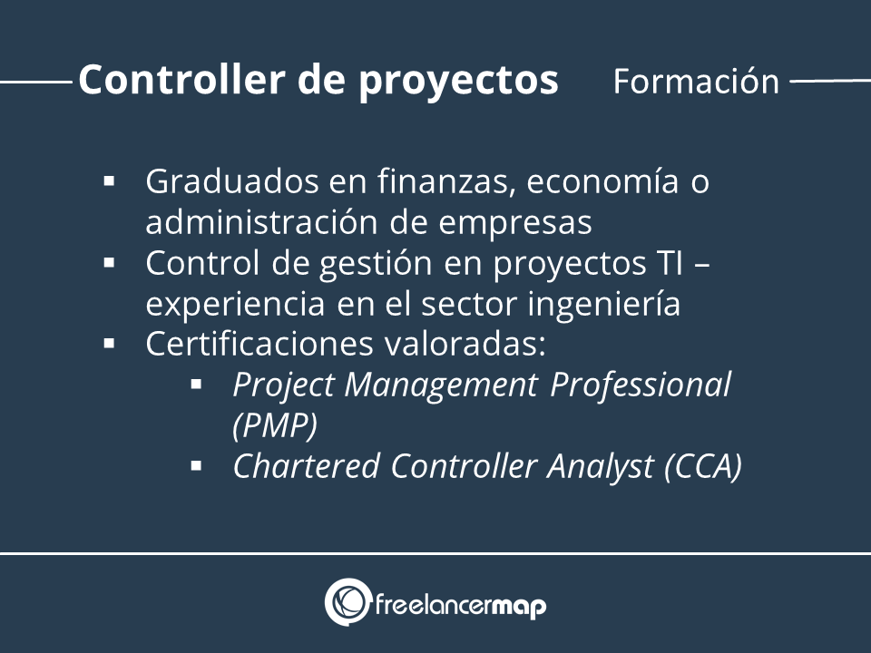 Requisitos de formación al controller de proyectos