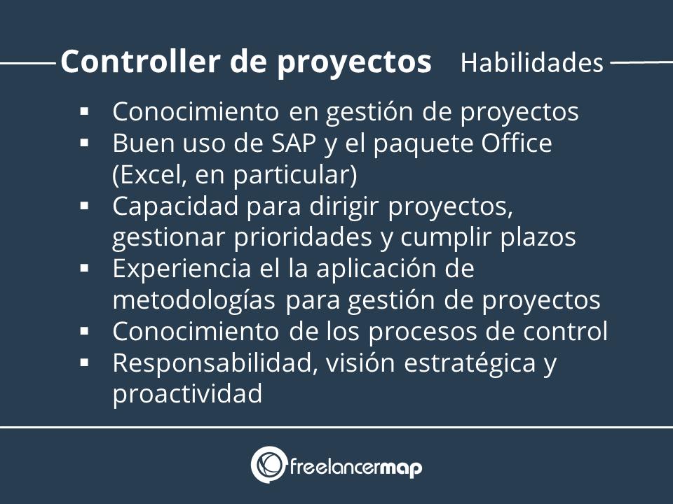 Habilidades y conocimientos del controller de proyectos