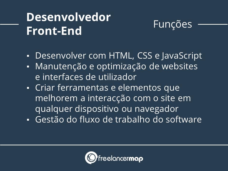 Funções do programador front end