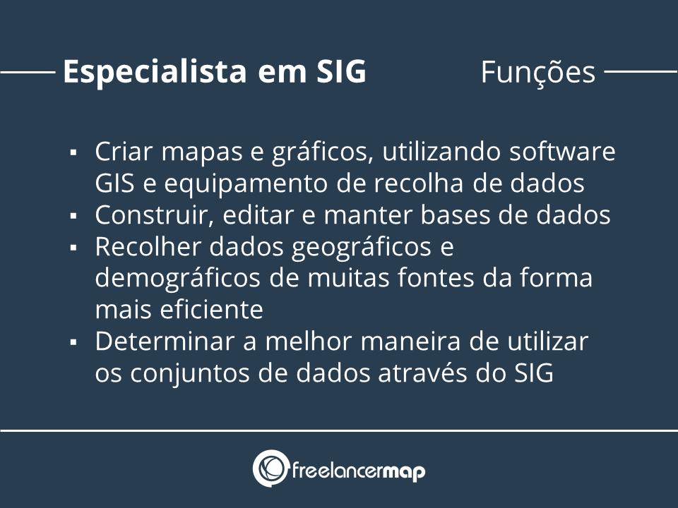 Funções do especialista em SIG