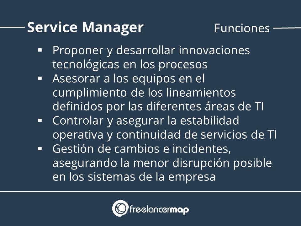 Funciones del gerente operaciones y gestiónn de servicios TI