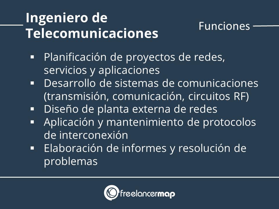 Funciones ingeniero telecomunicaciones
