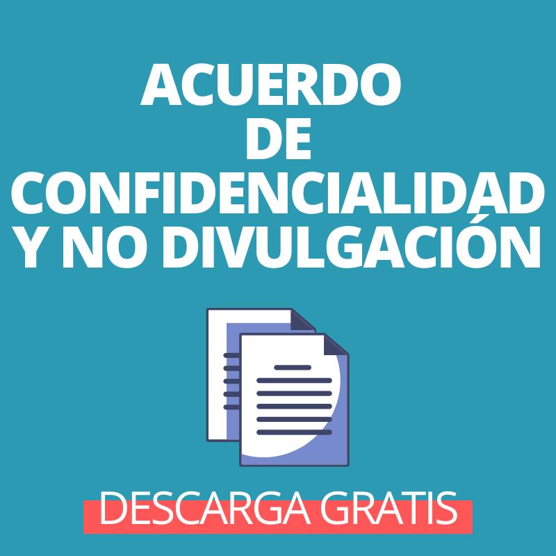Modelo de contrato de confidencialidad de desgarga gratis