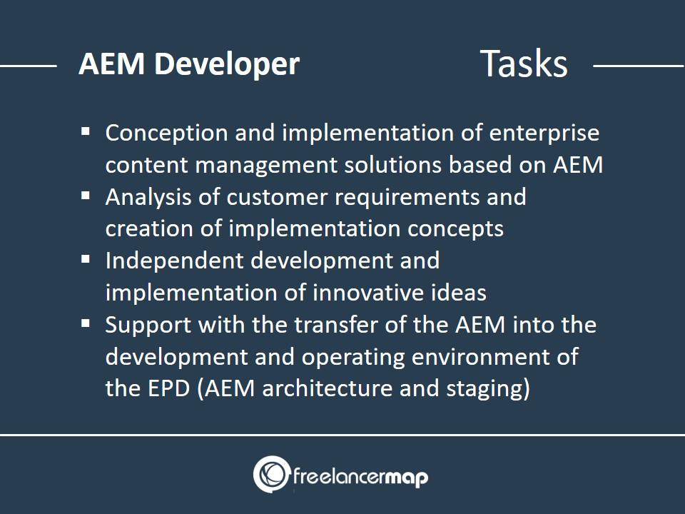 Responsibilities and tasks of a AEM developer