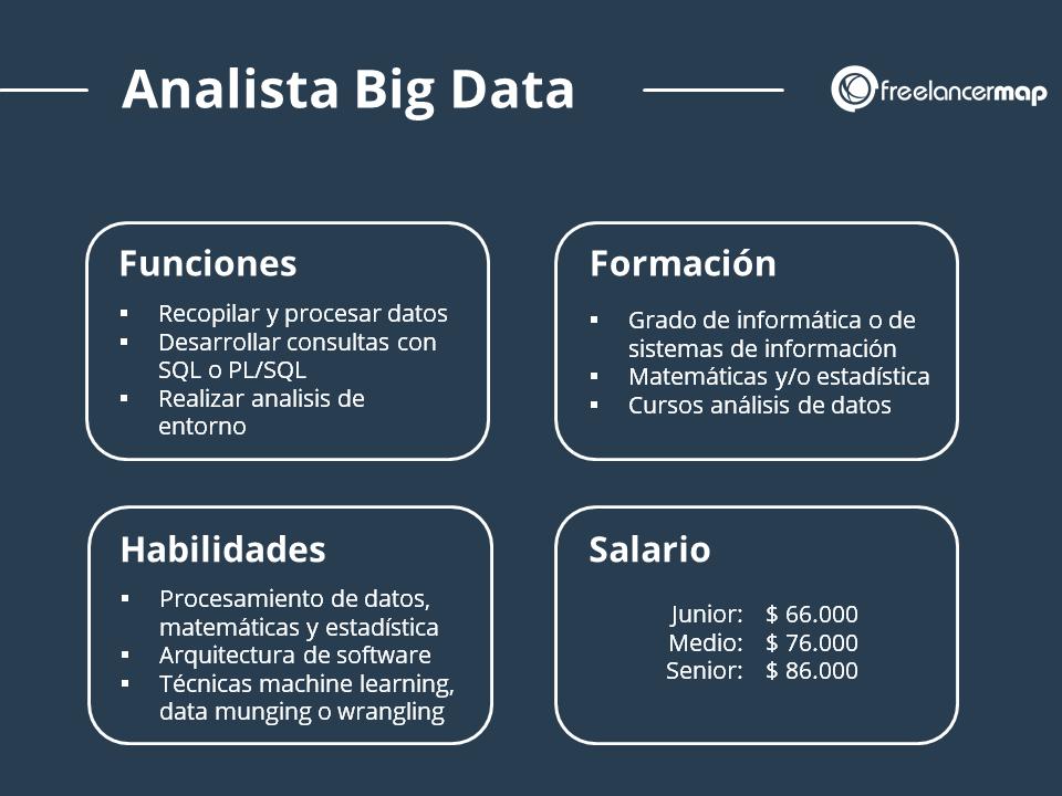 Perfil profesional del analista de datos - Funciones, formación, conocimientos y salario