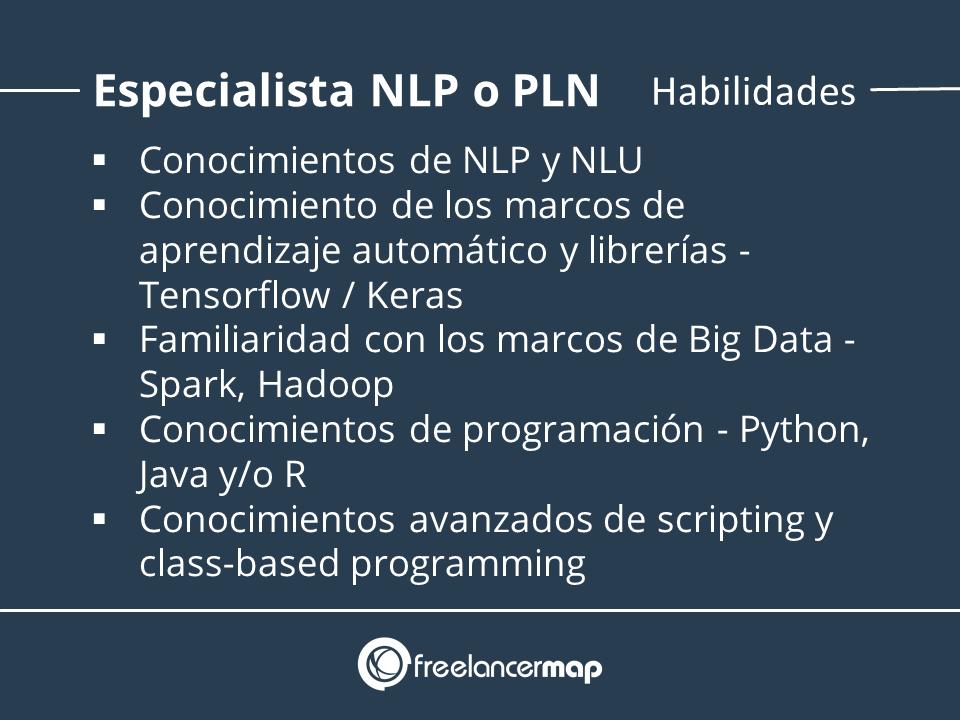 Conocimientos necesarios para ser ingeniero especialista en procesamiento del lenguaje natural