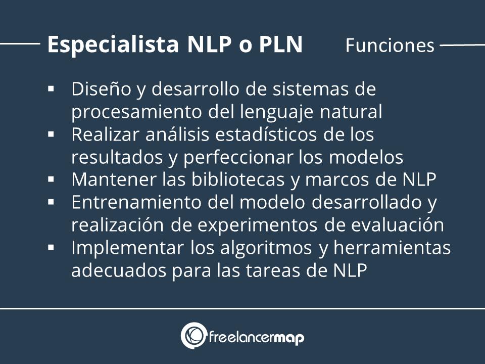 Funciones y tareas del especialista NLP