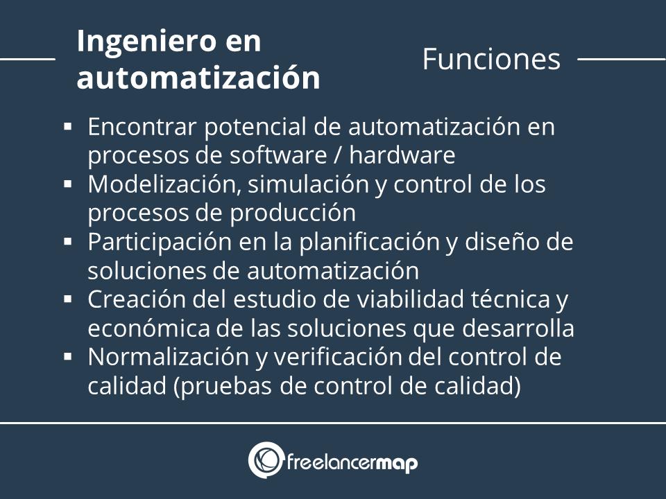 Funciones del ingeniero de automatización