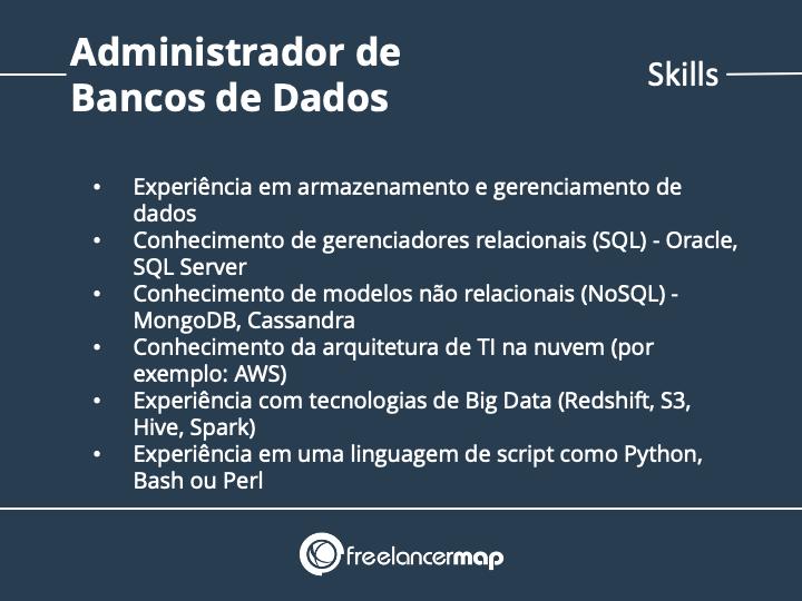 Competências  do Administrador de Bancos de Dados