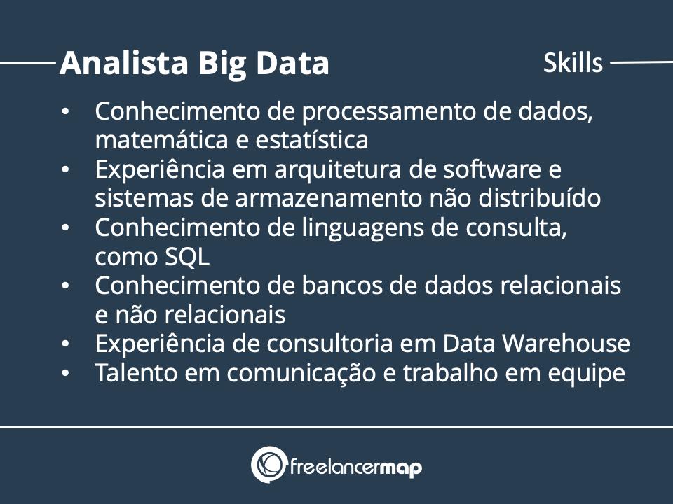 Skills do analista big data