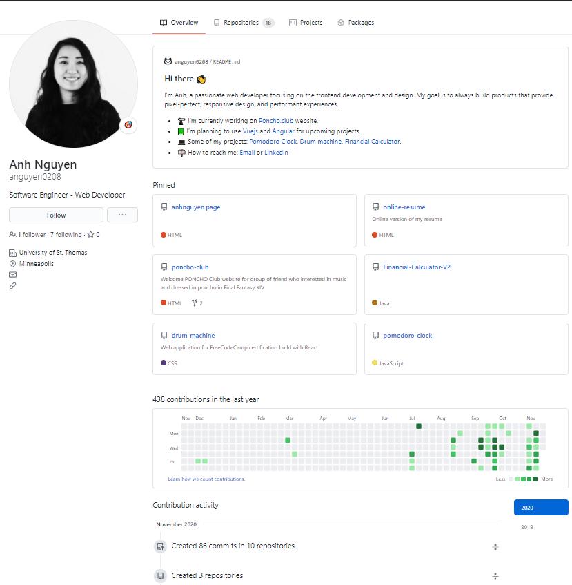 GitHub Profile with Readme