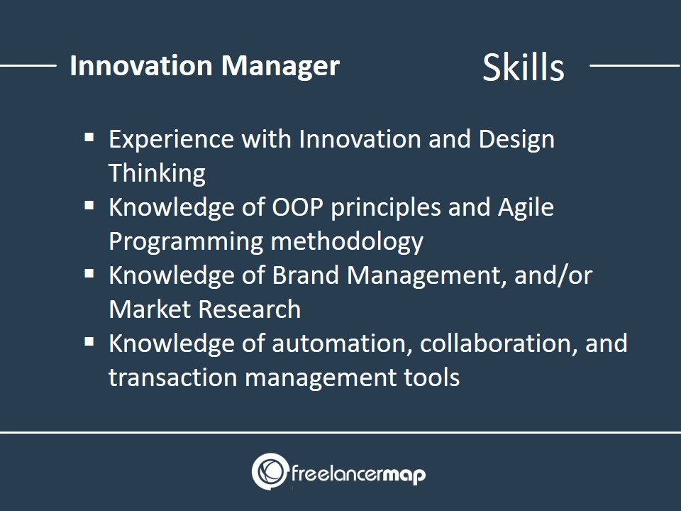 Innovation Manager - Skills Required