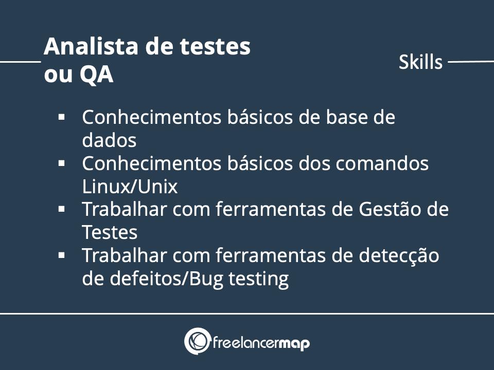 Skills de um Analista de Testes ou QA