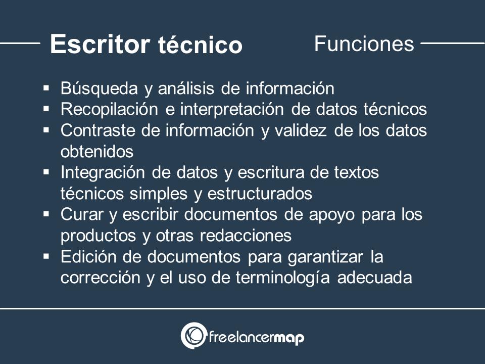 Funciones del escritor técnico