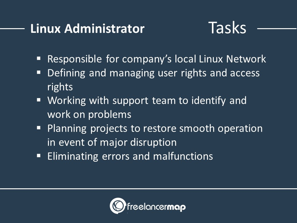 Responsibilities of a system administrator with focus on Linux