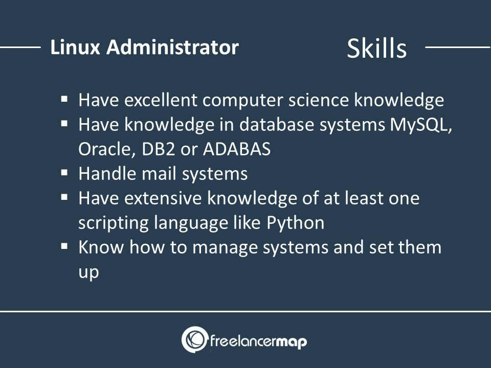 List of skills required as a Linux system administrator
