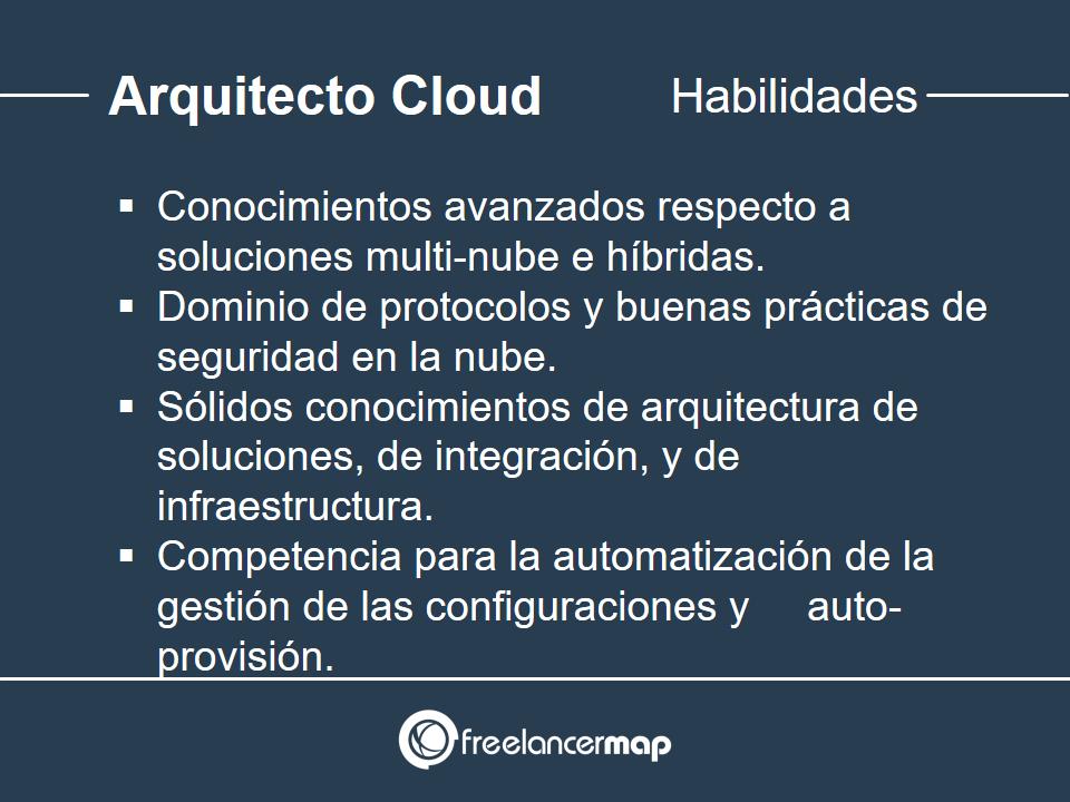 Habilidades y conocimientos del Arquitecto Cloud