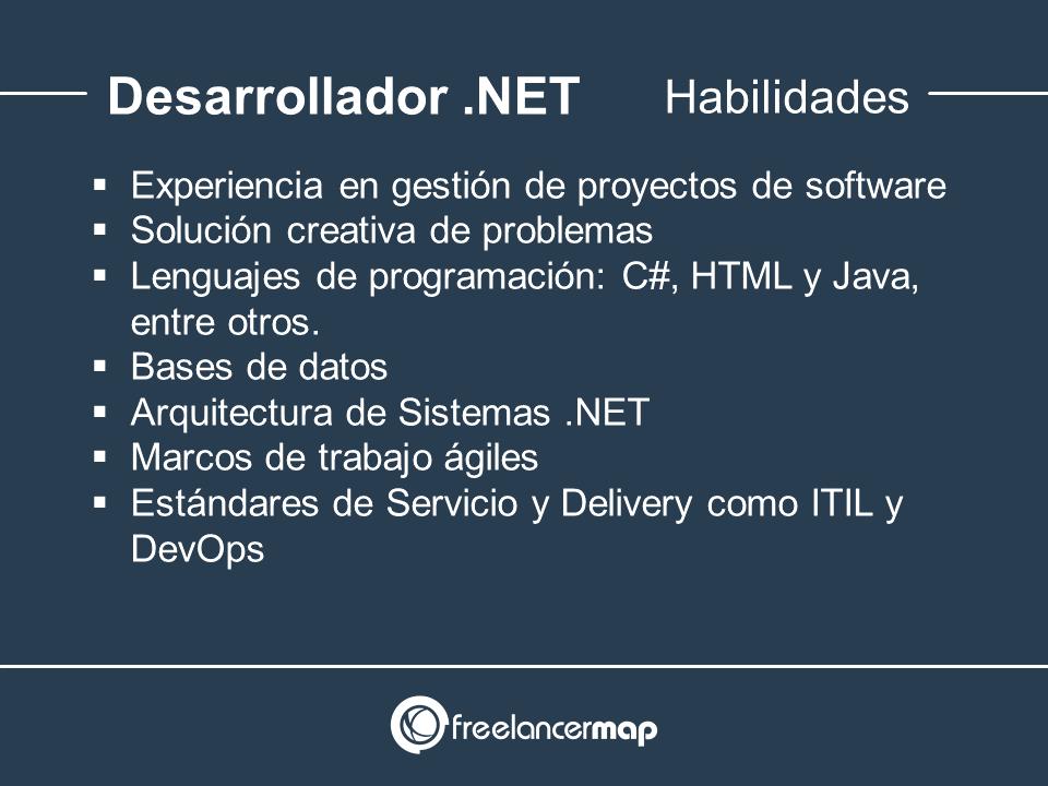 Habilidades y conocimientos del desarrollador .NET