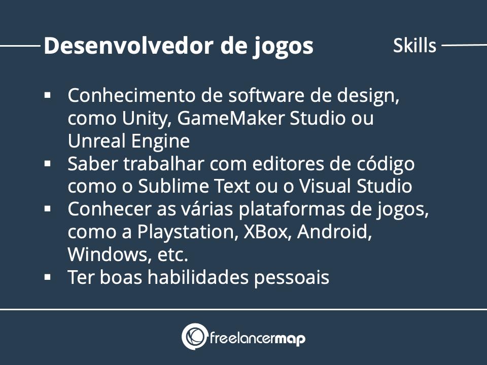 Skills de um desenvolvedor de games