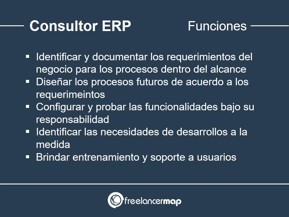Funciones del consultor ERP